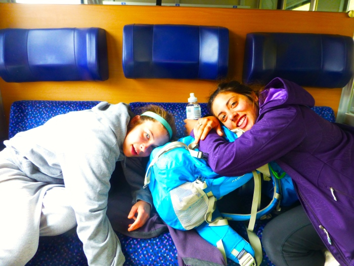"""These two are happy """"campers"""" as we finally are homeward bound."""